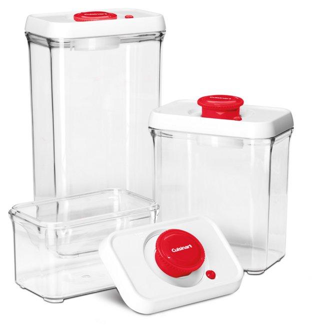3-Pc Vacuum-Seal Food Storage