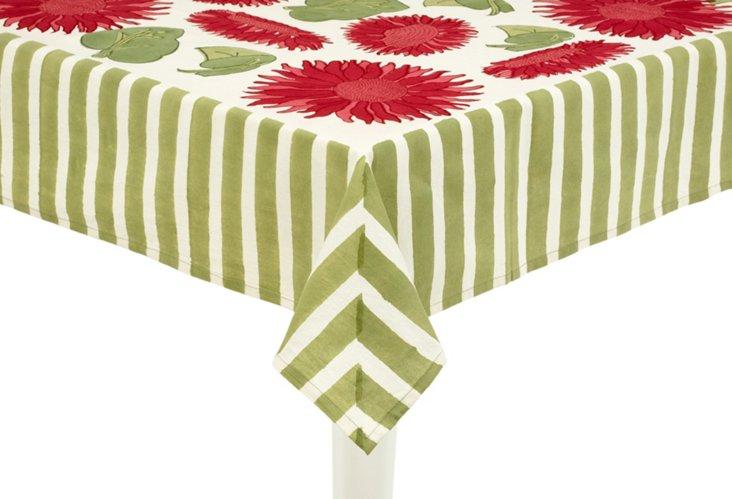 "Sunflower Tablecloth, Magenta, 90""x90"""