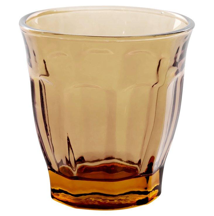 S/6 Café Glasses, Amber
