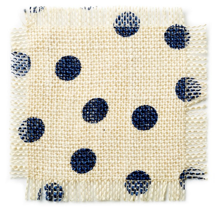 S/4 Polka Dot Coasters, Navy