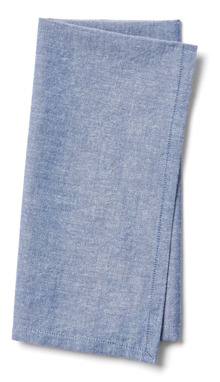 S/4 Chambray Napkins, Blue
