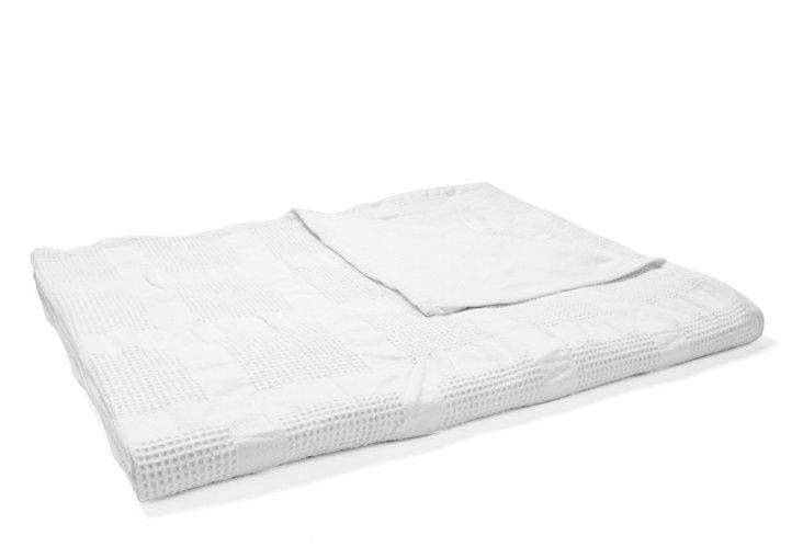Lattice Coverlet Full/Queen, White