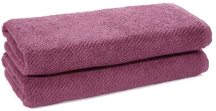 Set of 2 Oversize Hand Towels, Orchid