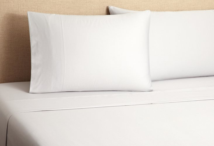 Sateen Sheet Set, Pale Gray