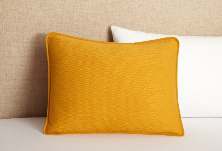 Subtle Diamond Sham, Mustard