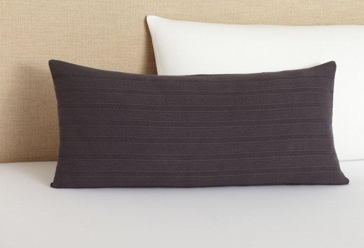 Aspen Weave Decorative Pillow, Charcoal
