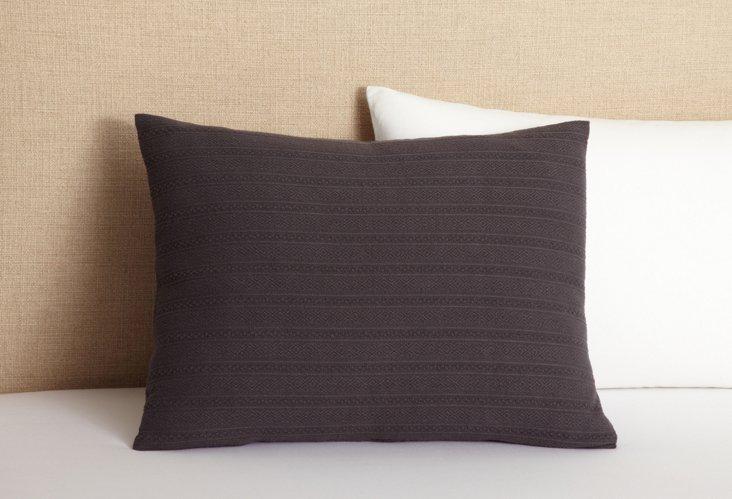 Aspen Weave Standard Sham, Charcoal