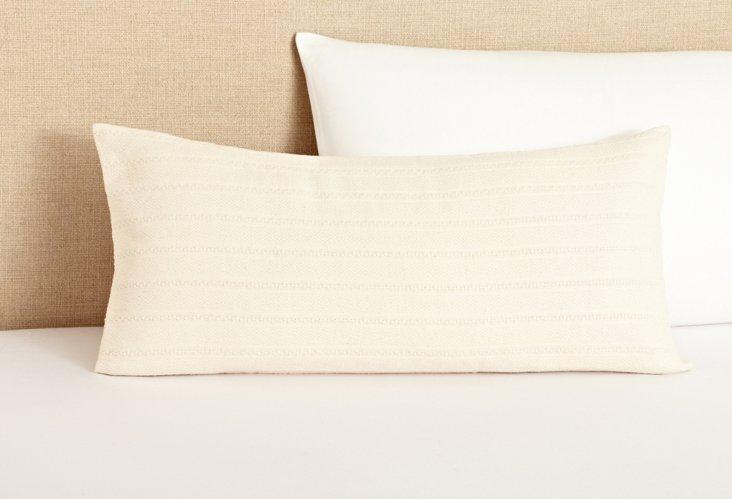 Aspen Weave Dec Pillow, Ivory