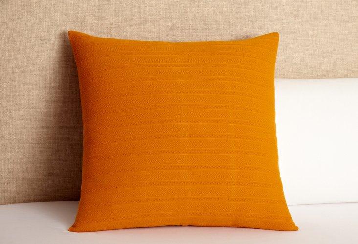 Aspen Weave Euro Sham, Tangerine
