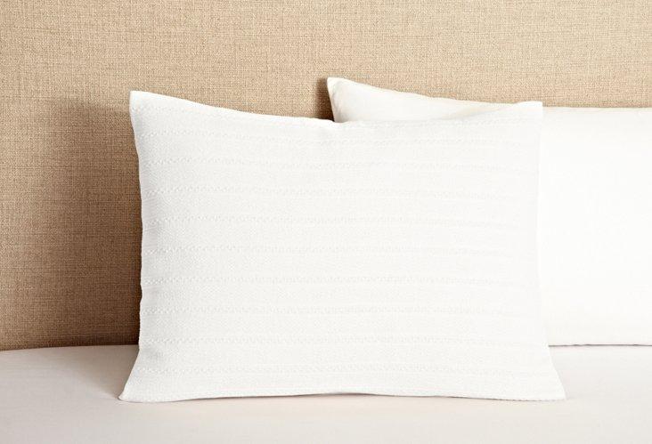 Aspen Weave Standard Sham, White