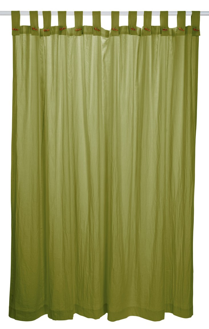 Seersucker Shower Curtain, Green Tea
