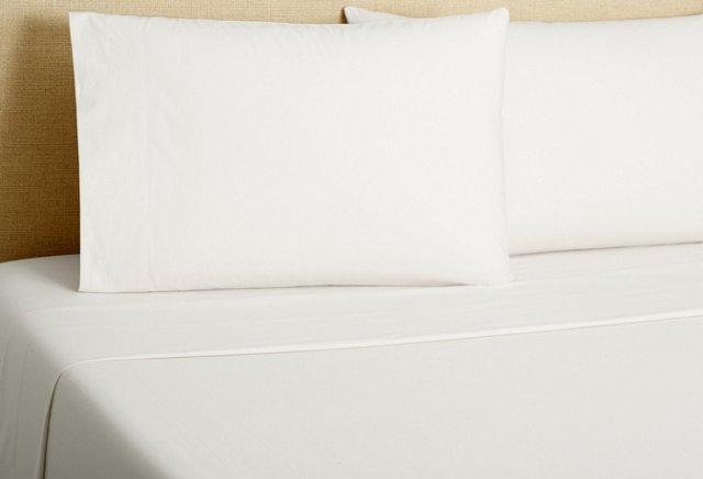 220 Percale Sheet Set, White