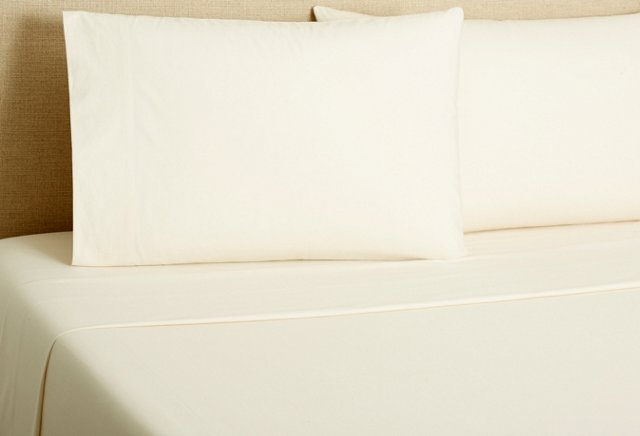 220 Percale Sheet Set, Ivory