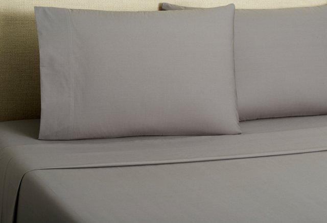 220 Percale Sheet Set, Deep Slate