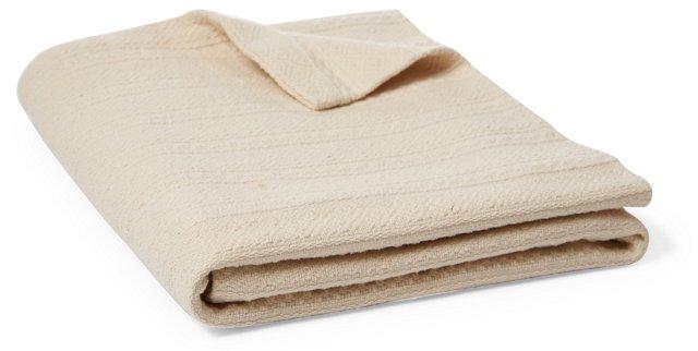 Dobby Weave Blanket, Ivory