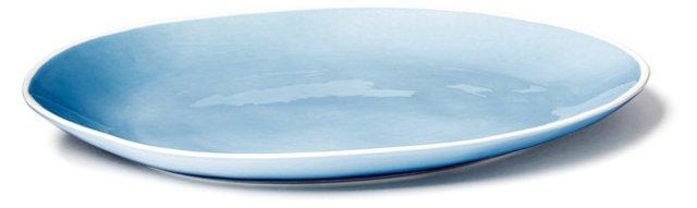 Hand-Painted Platter, Blue
