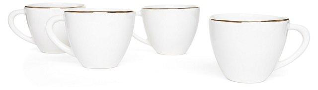 S/4 Gold-Rimmed Mugs