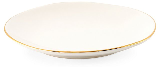 S/4 Gold-Rimmed Salad Plates