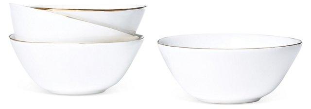 S/4 Gold-Rimmed Bowls