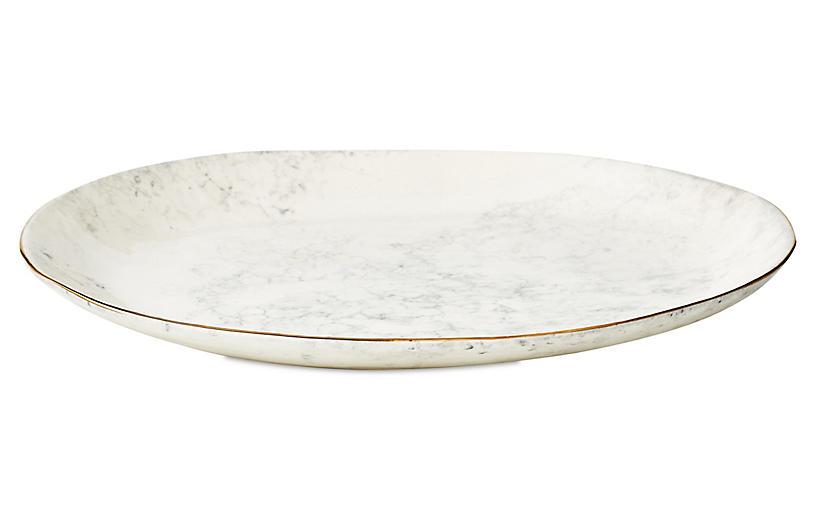 Marbleized Serving Platter