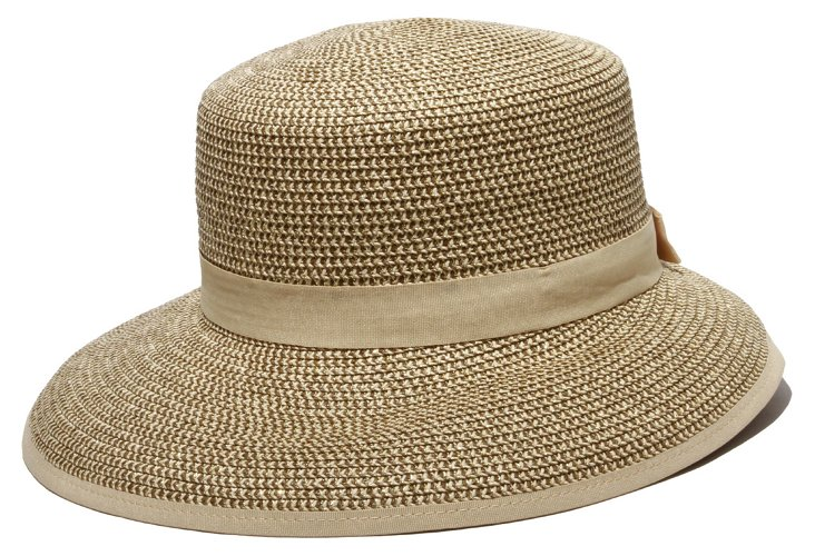 Pitch Perfect Woven Hat, Gold Tweed