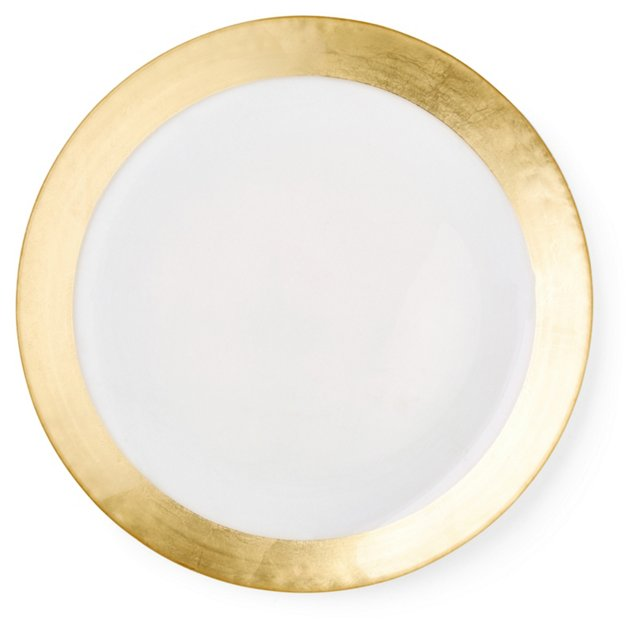 S/4 Gold-Rimmed Charger Plates