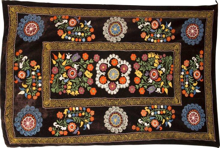 Vintage Velvet Suzani, Brown