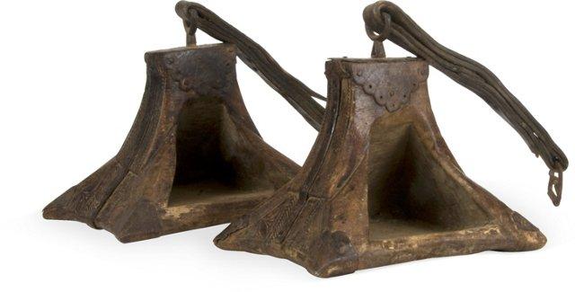 Antique Colonial Stirrups, Pair