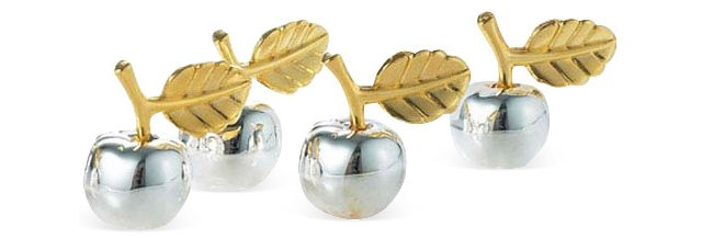 S/4 Apple Place-Card Holders
