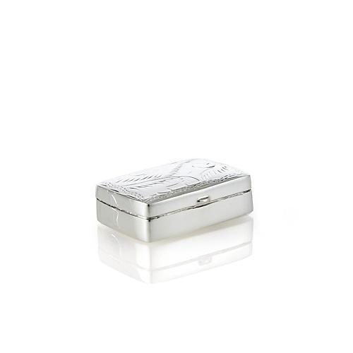 Sterling Silver Rectangular Pillbox