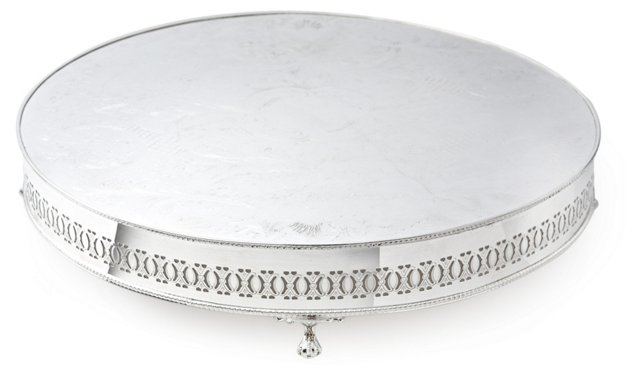Silver-Plated Pierced Cake Stand