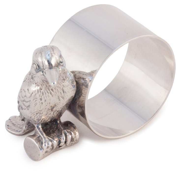 Silver-Plated Kingfisher Napkin Ring
