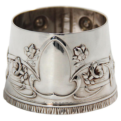 Silver-Plated Wine Bottle Collar