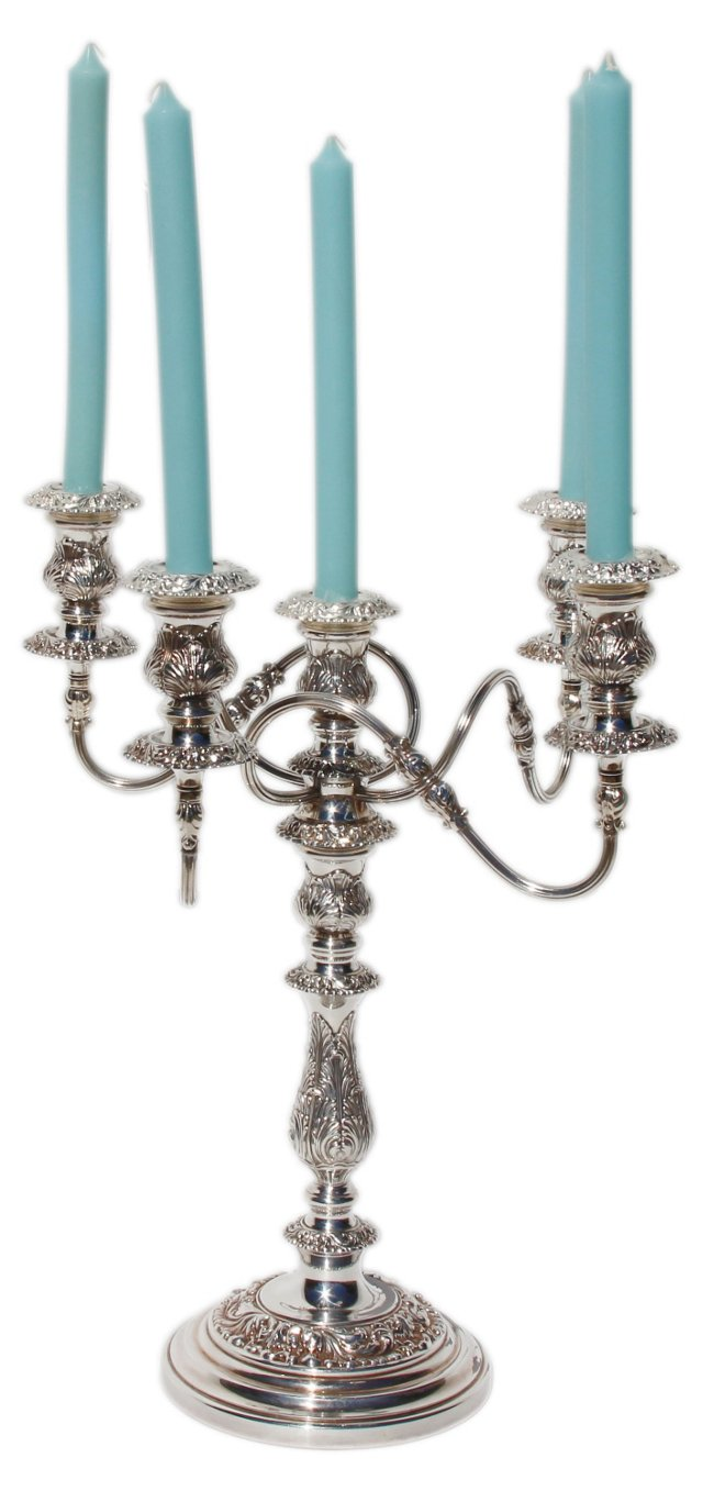 Pair of Silver-Plated Candelabras