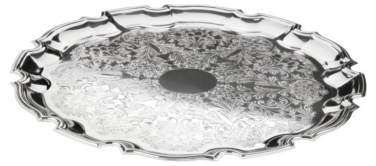 Silver-Plated Chippendale Tray
