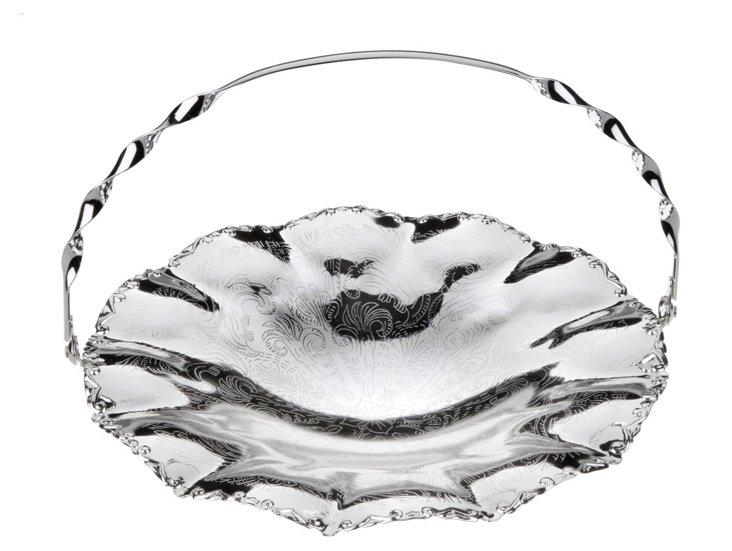 Silver-Plated Wavy-Edge Dish