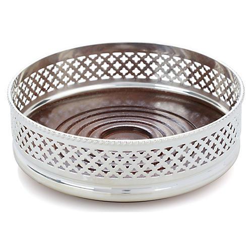 Silver-Plated Wine Coaster, Diamond