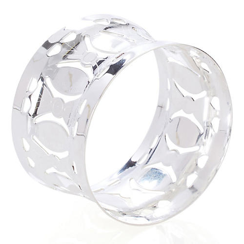 Silver-Plated Napkin Ring, Pierced
