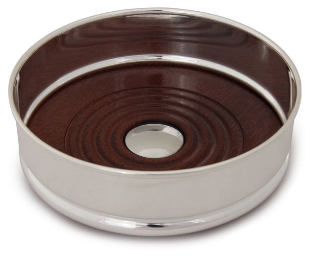 Silver-Plated Wine Coaster, Traditional