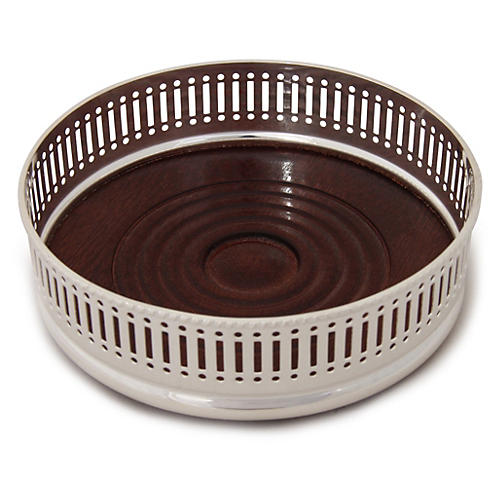 Silver-Plated Wine Coaster, Pierced