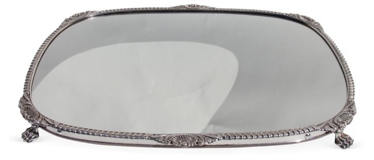 Large Silver-Plated Plateau & Gadroon