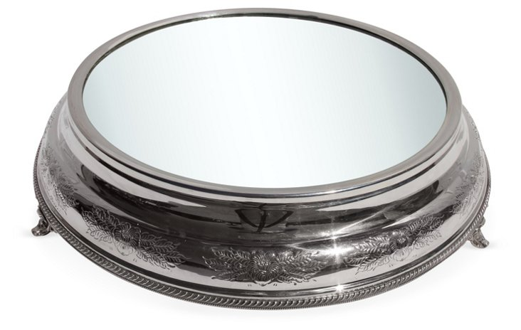 Silver-Plated Embossed Plateau