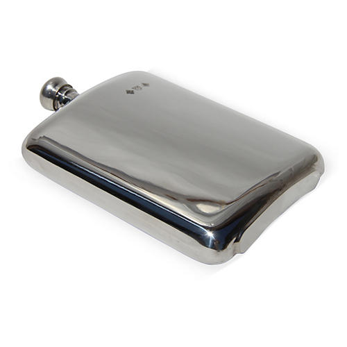 English Pewter Flask, 8 Oz