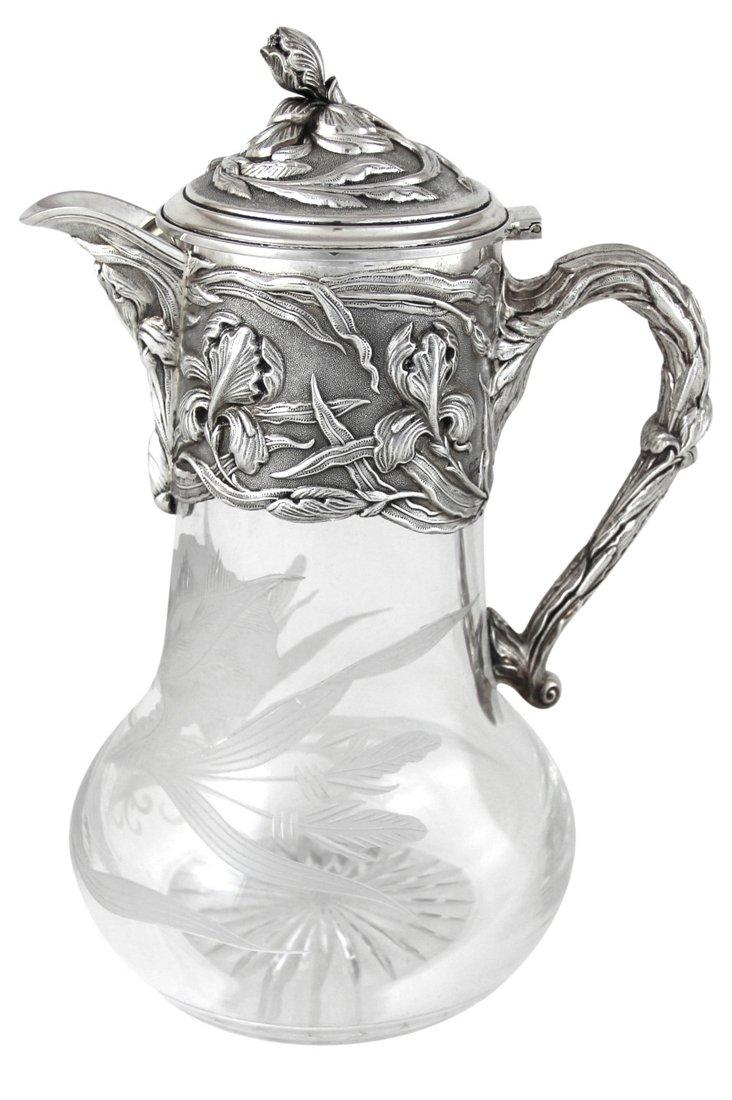 Silver-Plated Nouveau Claret Jug