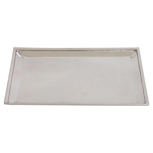 "9.5"" Plain English Silver Tray"