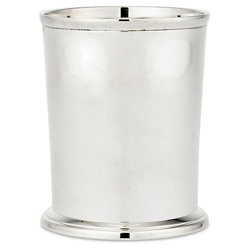 Pair Edged Mint Juleps, Silver Plated