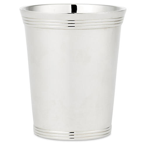 Ribbed-Edge Mint Julep, Silver Plated