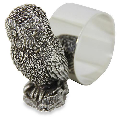 Silverplate Owl Napkin Ring