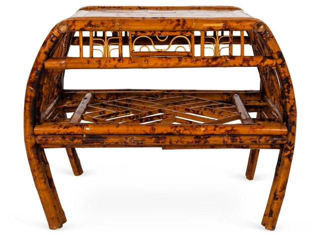 2-Tiered Bamboo Table