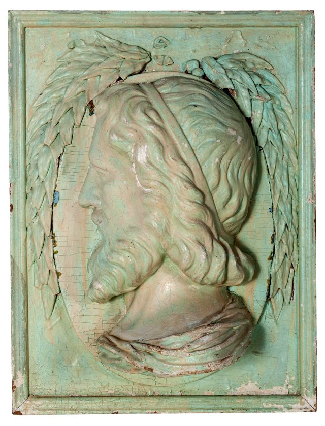 Carved Bust Wall Hanging